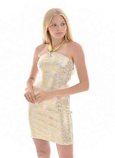 Sense Askılı Abiye elbise Altın